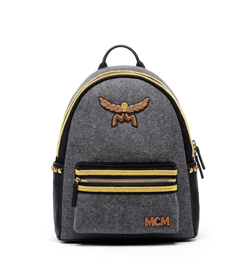 MCM AW16 Stark Loden Backpack Medium Mono Grey £1,770